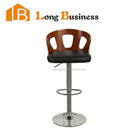 Modern appereance swivel height adjustable bendwood barstool
