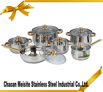 12 pcs stainless steel kitchenware for restaurant