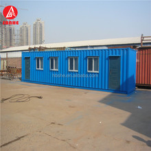 Portable fireproof sandwich panel insulation mobile prefab container for temporary office