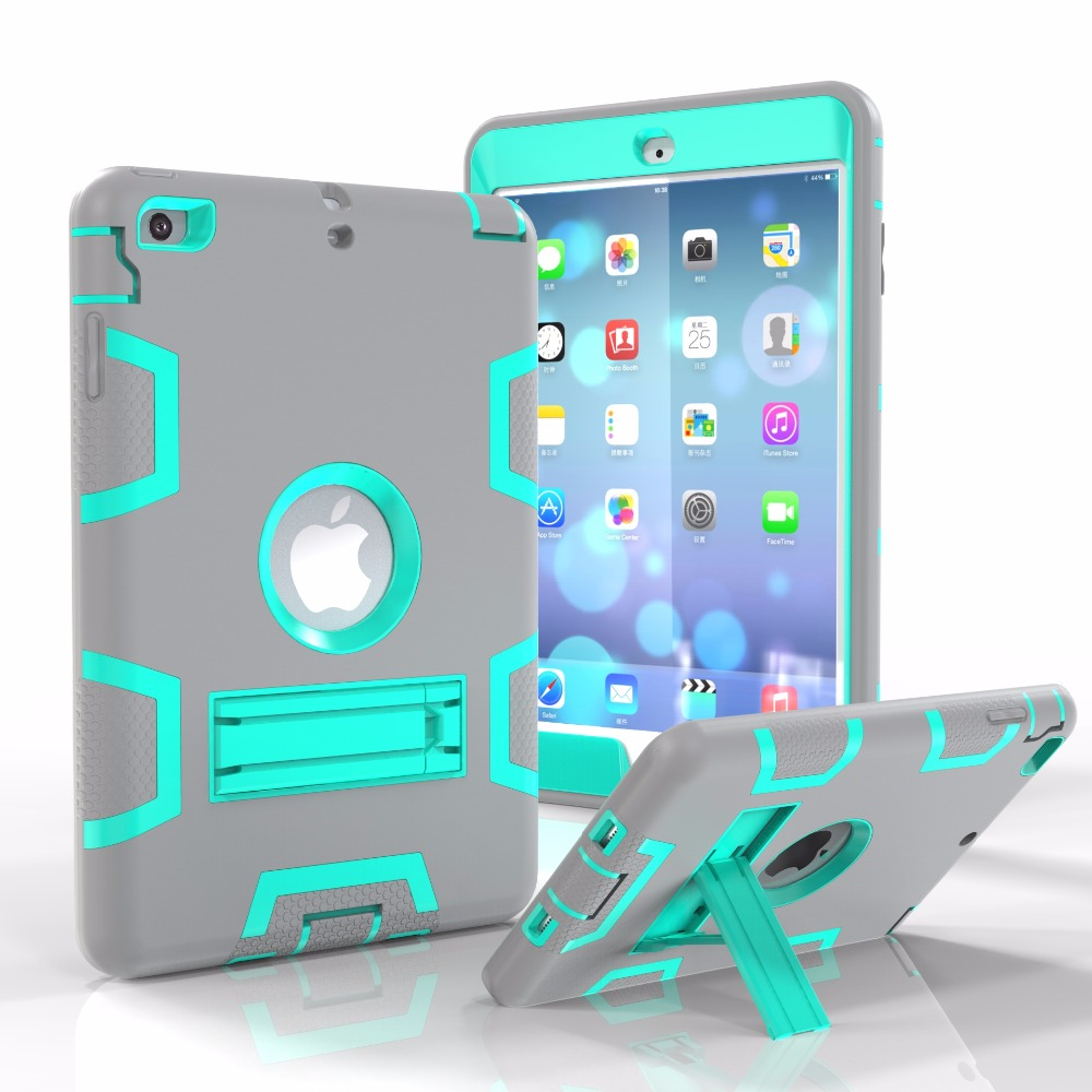 Factory Price Colorful Design Tablet Case for iPad Mini Silicone PC Combo Case
