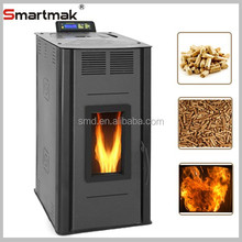 2015 new design wood pellet boiler stove with radiator,29KW pellet stove with boiler,biomass pellet boiler