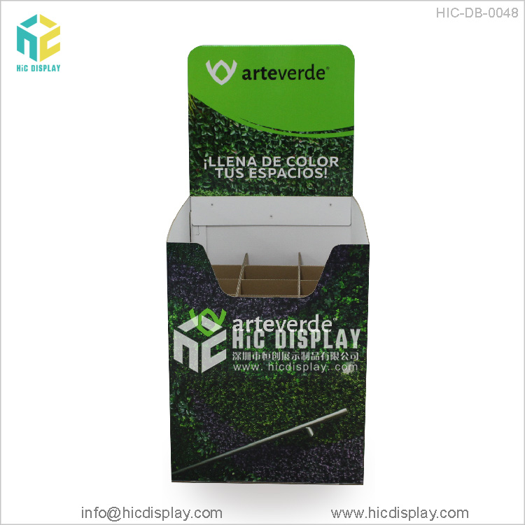 HIC New Product Promotional Pos Cardboard Dump Bin Display