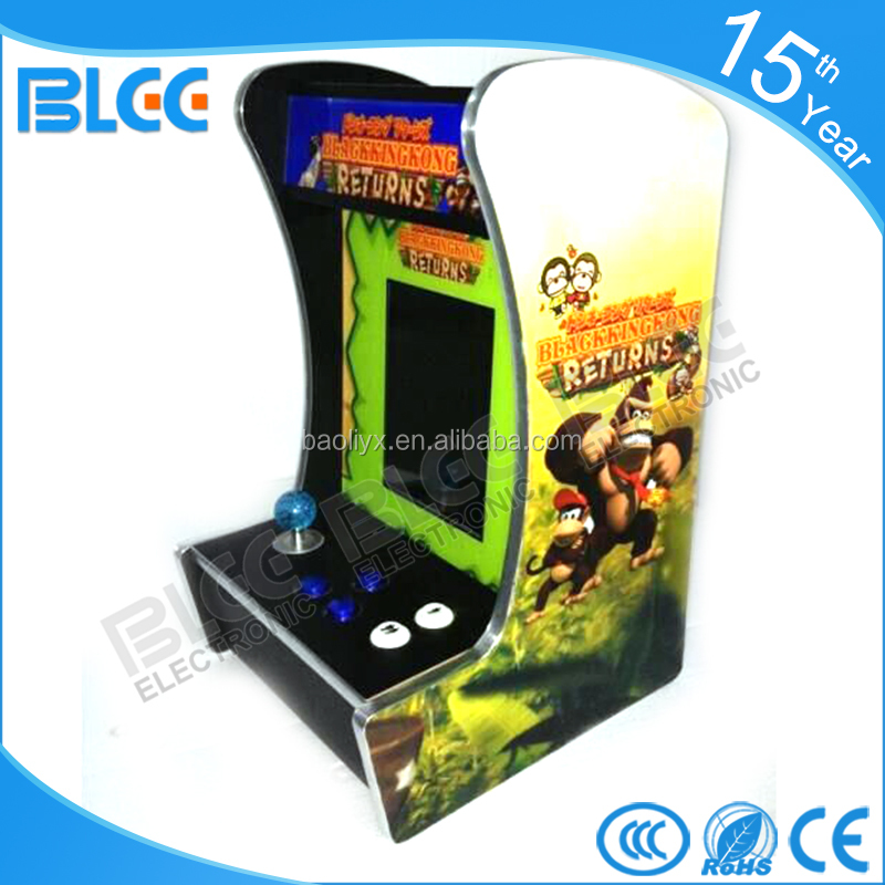 10.4 inch LCD Mini table top arcade with Classical games 60 In 1 or 520 in 1 PCB board/coin accepter/joystick/coin box/button