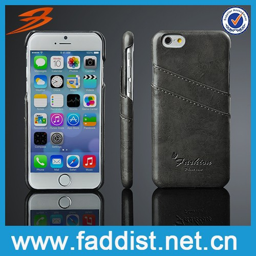 For iphone6 case , for pu leather back cover case,for apple iphone 6 cover