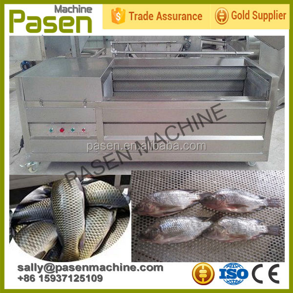 Automatic Stainless Steel Electric Fish Cleaning Machine / High Capacity Fish Scale Peeling Machine