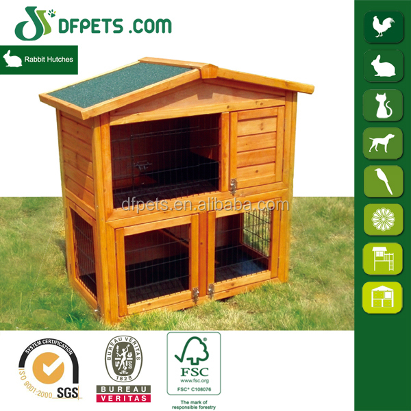 Outdoor Handmade Wooden Rabbit Hutch