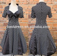 real photo polka dots house wife 50's Rockabilly dress Retro Prom Party Dress bridal maids dress