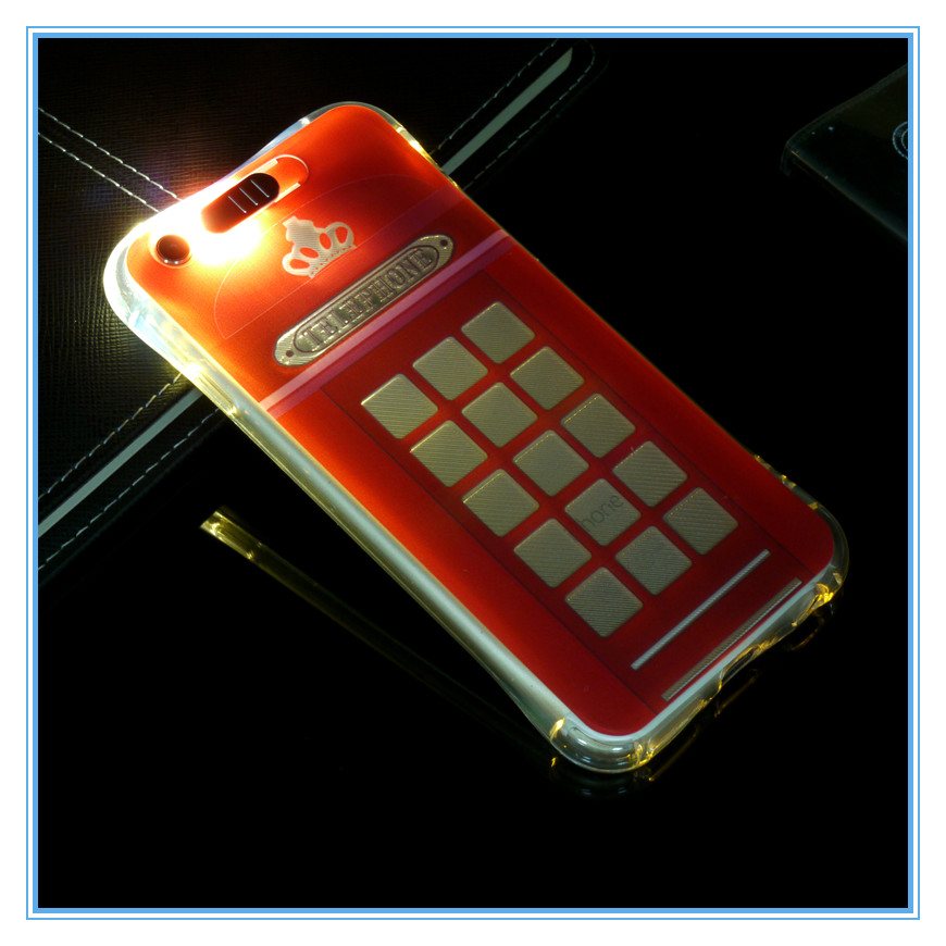 wholesale led phone case for samsung S8 plus with printing