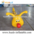 Cartoon style inflatable caterpillar tunnel pool toy