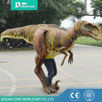 Professional factory supply walking dinosaurs costume,realistic robot dinosaur
