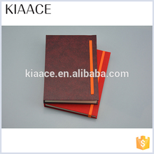Wholesales customize brown ecological pu leather organizer filler notebook