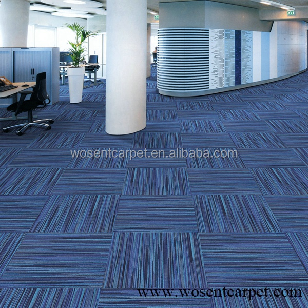 Wholesale auditorium carpet tile public office blue carpet