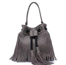 zm32050a stylish leather handbag tote bag tassel single strap shoulder bag