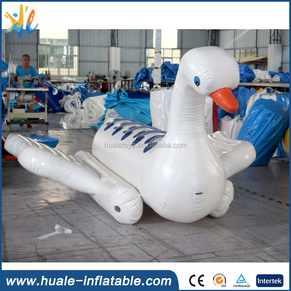 Inflatable fly fish tube, swan type inflatable flying fish boat