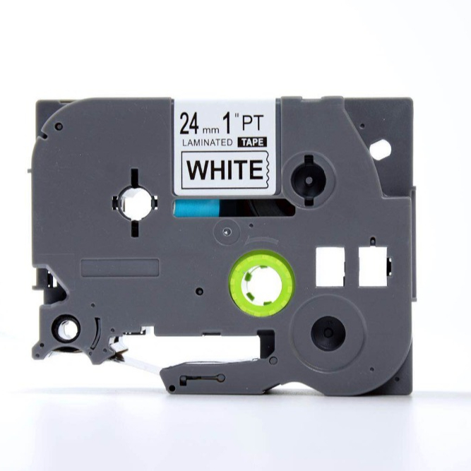 24mm Black on White Cassette Tape P-touch Label Printer Ink Cartridge TZE-251 TZE251 Compatible TZ tape for Label Printer