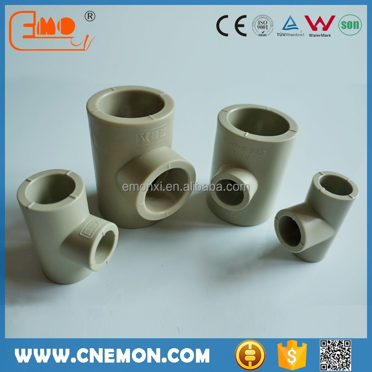 Cold and hot water PPR pipes fittings