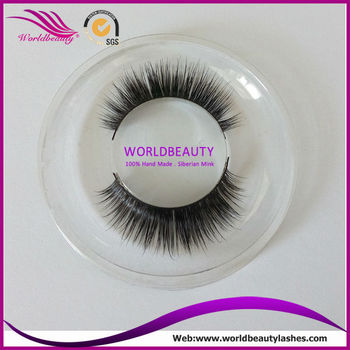 Manufacturing real mink fur false eyelash hot selling 3D mink lashes