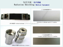 tungsten collimator plate for medical machine
