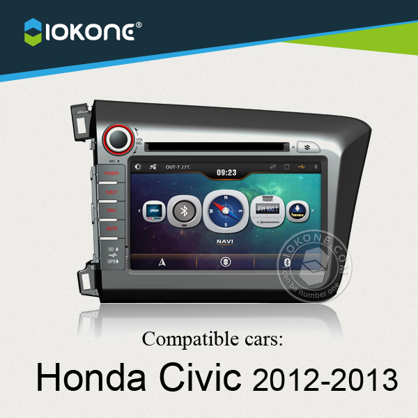 China factory offer OEM Central multimedia For Honda Civic 2012 to 2013