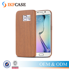 Retro Wood Skin PU Leather Back Cover For Samsung Galaxy S6 G9200 S6 Bord G9250 Ultra Thin Shockproof Protective Phone Case