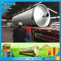 Professional Manufacturer 45%to 60% oil output used tire pyrolysis machine oil distillation equipment