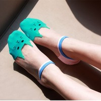 5 Colors Candy Color Women Socks Short Ankle Boat Low Cut Sport Socks Crew Casual New Glass silk cute cat girl socks