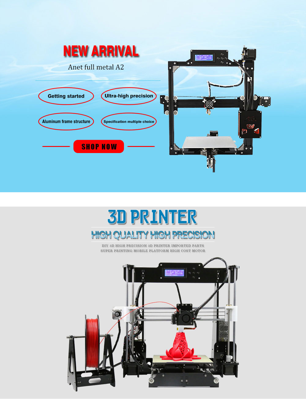 Spot Sale!!! Impressora 3d Anet A8-L Architectural Model Making 3d Printer Diy