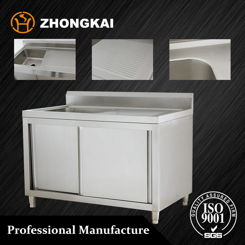 Bestselling Wholesale 304 Stainless Steel Commercial Restaurant Kitchen Sink Cabinet