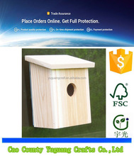Custom Wooden Nest View Birdhouse with Clear Observation Window