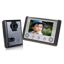 "7"" Wired Night Visual Video Door Phone Doorbell Intercom System Home Security TFT LCD Monitor Outdoor Camera"