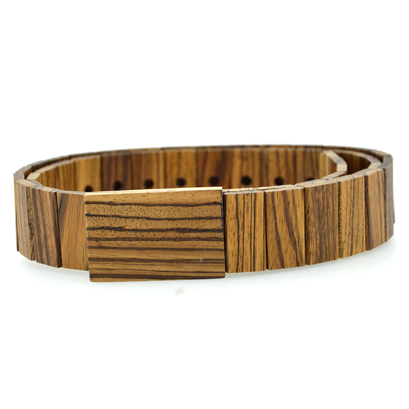Bewell sandalwood / bamboo fashion wooden belts