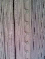 Decorative white gypsum/plaster cornice factory
