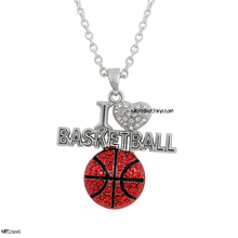 Pendant I Love Basketball Sports Necklace