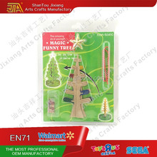 Christmas decoration paper growing crystal colorful Christmas tree