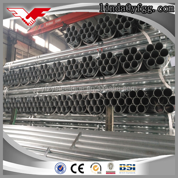 2016 best wholesale websites 2.5 inch galvanised threaded steel tubes