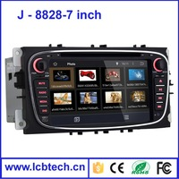 HD Touch Screen Android 4.4 system 7 Inch 2 Din Car DVD Player With Built-in GPS Navigation Bluetooth for Ford 8828