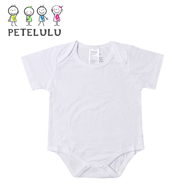 Guangzhou Wholesale Antibacteria Bamboo Material Clothes Plain White Baby Romper