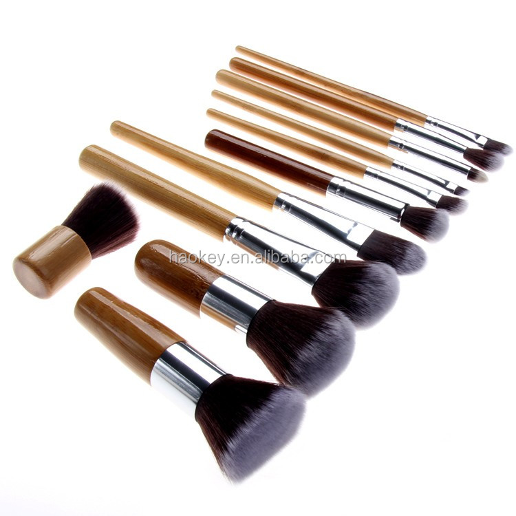 2016 Professional 11PCS Nylon Hair Wood makeup brushes