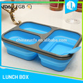 Hard silicone material lunch box with fork and spoon