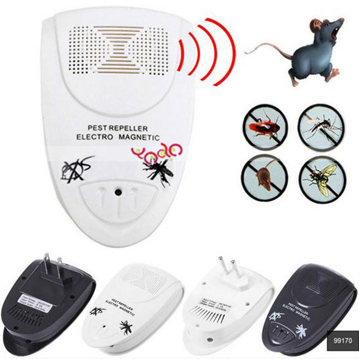 Wave Electronic Indoor Mosquito Rat Mice Ultrasonic Pest Repeller US Plug Black