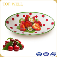 Christmas decorative bowl, fruit dessert plates ceramic salad bowl