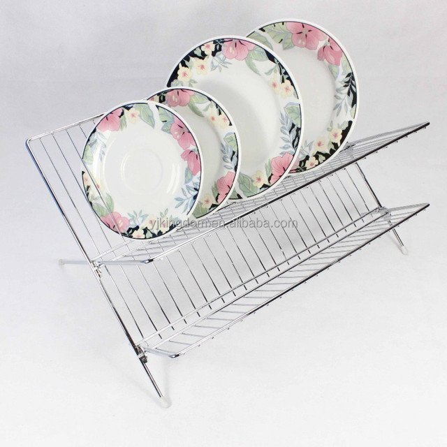 542-37 2-tier metal wire chrome plated dish drying rack