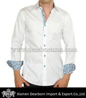 Brand Name Men Dress Shirts with Spread Collar
