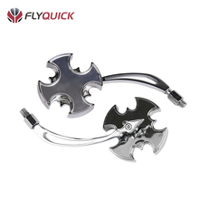 SF-016 FLYQUICK China Manufacturer Flame Style Motorcycle Universal Modified Micro Rearview Chrome Dirtbike Mirror