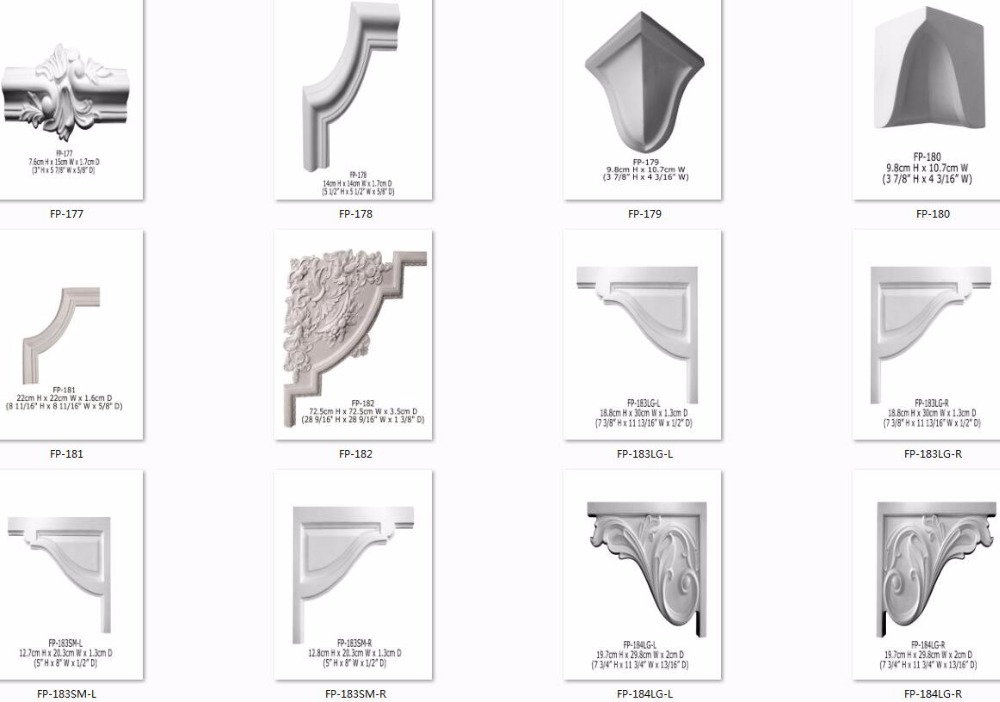Polyurethane High Density Beautiful Cheap Decorative PU decorative wall corner guards