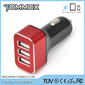 DC12-24V 68*46*25mm 5V 7.2A 36W 10 colors car charger power bank CE FCC ROHS ABS+PC