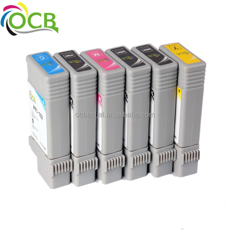 Ocbestjet Product by ourselves !Competable ink cartridge for Canon PFI-102 <strong>105</strong> with pigment ink