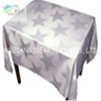 Polyester Printed Satin Fabric Coated waterproof For Table Cloth