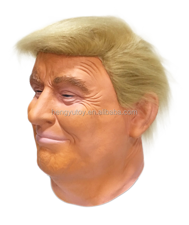 Realistic Celebrity Mask Popular Face Donald Trump Rubber Mask
