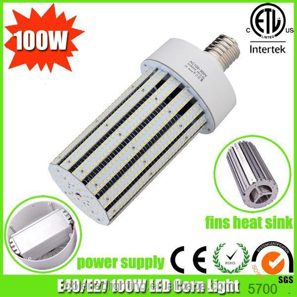aluminimum fins heat sink 100watt led street light bulb